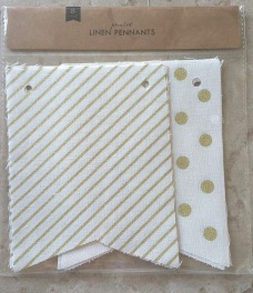 Printed Linen Pennants from Target's Dollar Spot