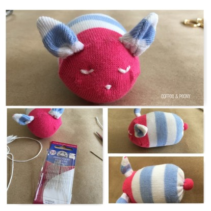Mini Sock Bunny Finishing